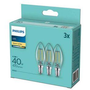 PHILIPS; СЕТ LED КРУШКИ 3 БР. 5.5W/E14/2700K